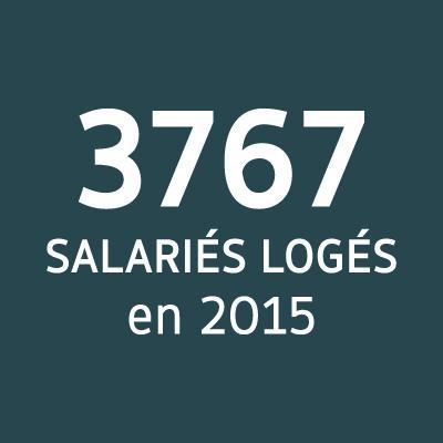 3 767 salariés logés en 2015