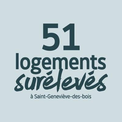 51 logements surélevés à Sainte-Geneviève-des-Bois
