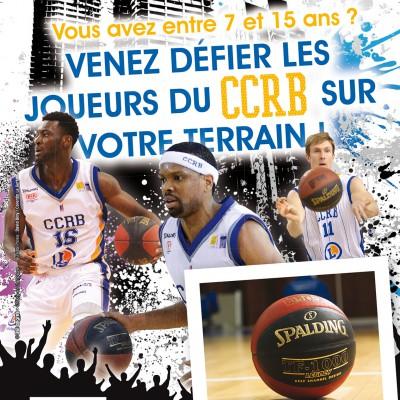 Basket : les jeunes s'initient avec les pros du CCRB